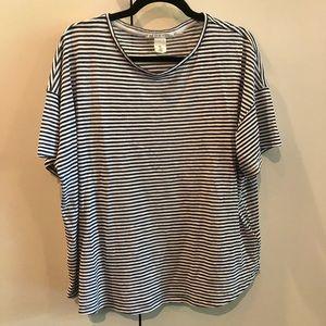H&M Navy/White Striped T-Shirt